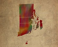 RI Colorful Counties Fine Art Print