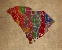 SC Colorful Counties Fine Art Print