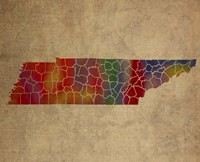 TN Colorful Counties Fine Art Print