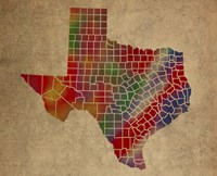 TX Colorful Counties Fine Art Print