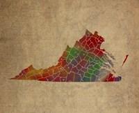 VA Colorful Counties Fine Art Print