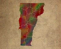 VT Colorful Counties Fine Art Print