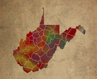 WV Colorful Counties Fine Art Print