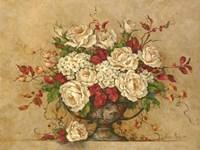 Autumn Rose Urn Fine Art Print