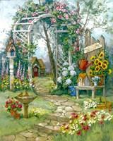 Country Garden Arbor Fine Art Print