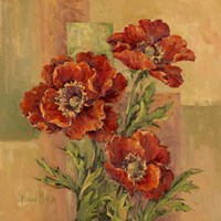 Terracotta Poppies Fine Art Print