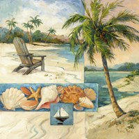 Seaside Collage I Fine Art Print