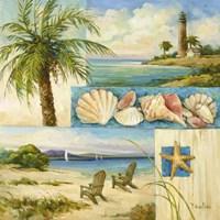 Seaside Collage II Fine Art Print
