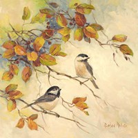 Birds of Autumn II Fine Art Print