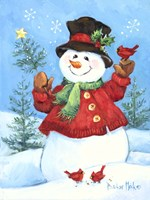 Red Coat Snowman Fine Art Print