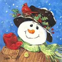 Holly Snowman Fine Art Print