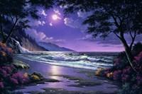 Beach at Night Fine Art Print