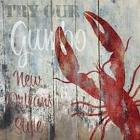 New Orleans Seafood I Framed Print