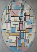 Composition in Oval with Color Planes I, 1914 Fine Art Print