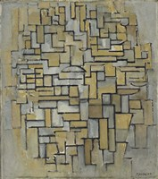 Composition in Brown and Gray Fine Art Print