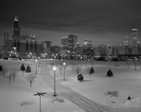 Snowy Chicago Skyline Fine Art Print