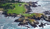 Golf Course on an Island, Pebble Beach Golf Links, California Fine Art Print