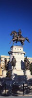 Low Angle View of an Equestrian Statue, Richmond, Virginia Fine Art Print