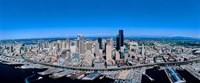 Aerial View of a Cityscape, Seattle, Washington Fine Art Print