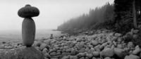 Cairn on a Rocky Beach, Maine Fine Art Print