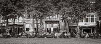 People at Sidewalk Cafe, The Hague, Netherlands Fine Art Print