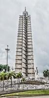 View of Jose Marti Memorial at Plaza de la Revolution, Havana, Cuba Fine Art Print