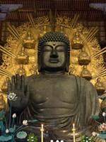 Great Buddha Statue in TodaiJi Temple, Japan Fine Art Print
