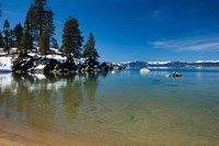Scenic View of Lake Tahoe, California Fine Art Print
