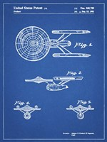 Blueprint Starship Enterprise Patent Fine Art Print