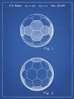 Blueprint Leather Soccer Ball Patent Fine Art Print