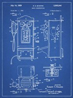 Blueprint Wall Phone Patent Fine Art Print