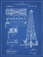 Blueprint Howard Hughes Oil Drilling Rig Patent Fine Art Print