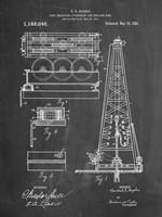 Chalkboard Howard Hughes Oil Drilling Rig Patent Fine Art Print