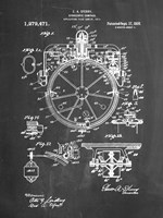 Chalkboard Gyrocompass Patent Fine Art Print