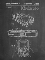 Chalkboard Nintendo Game Boy Patent Fine Art Print