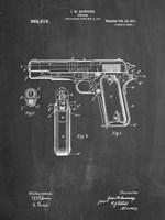 Chalkboard Colt 1911 Semi-Automatic Pistol Patent Fine Art Print