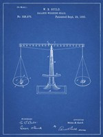 Blueprint Scales of Justice Patent Fine Art Print