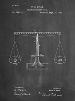 Chalkboard Scales of Justice Patent Fine Art Print
