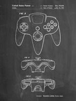Chalkboard Nintendo 64 Controller Patent Fine Art Print
