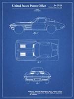 Blueprint 1962 Corvette Stingray Patent Fine Art Print