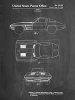 Chalkboard 1962 Corvette Stingray Patent Fine Art Print