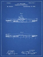 Blueprint Holland Submarine Patent Fine Art Print