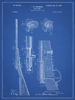 Blueprint Browning Bolt Action Gun Patent Fine Art Print