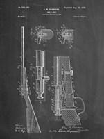 Chalkboard Browning Bolt Action Gun Patent Fine Art Print