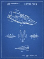 Blueprint Star Wars RZ-1 A Wing Starfighter Patent Fine Art Print
