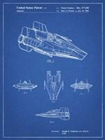 Blueprint Star Wars RZ-1 A Wing Starfighter Patent Fine Art Print