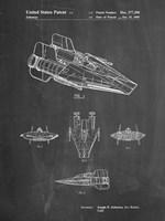 Chalkboard Star Wars RZ-1 A Wing Starfighter Patent Fine Art Print