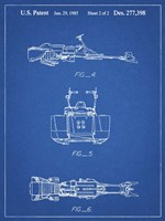 Blueprint Star Wars Speeder Bike Patent Fine Art Print