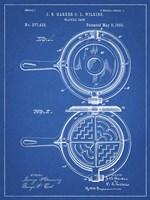 Blueprint Waffle Iron Patent Fine Art Print
