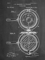 Chalkboard Waffle Iron Patent Fine Art Print